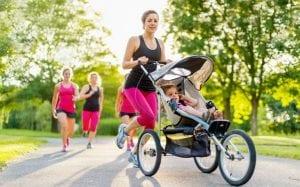 Mamá practicando running