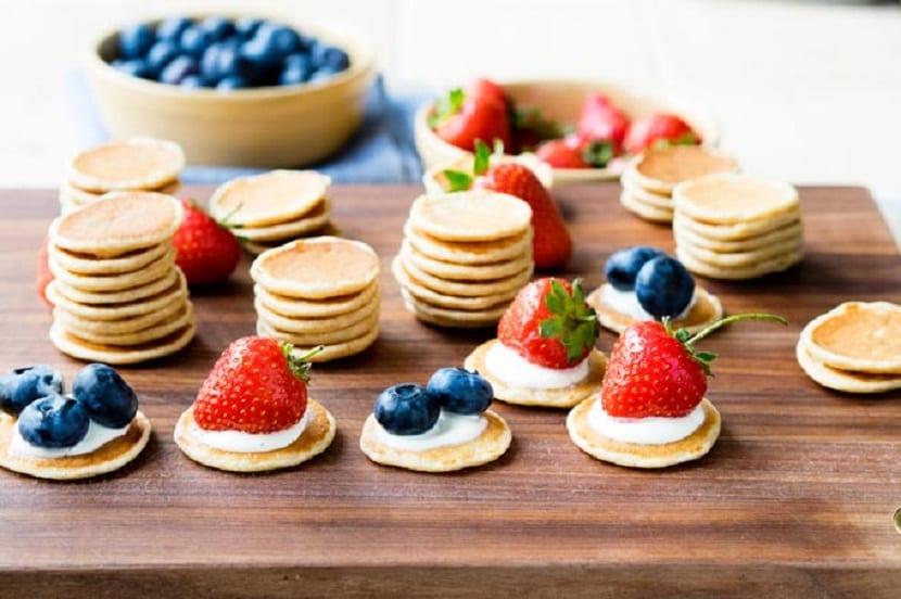 Mini tortitas de frutas