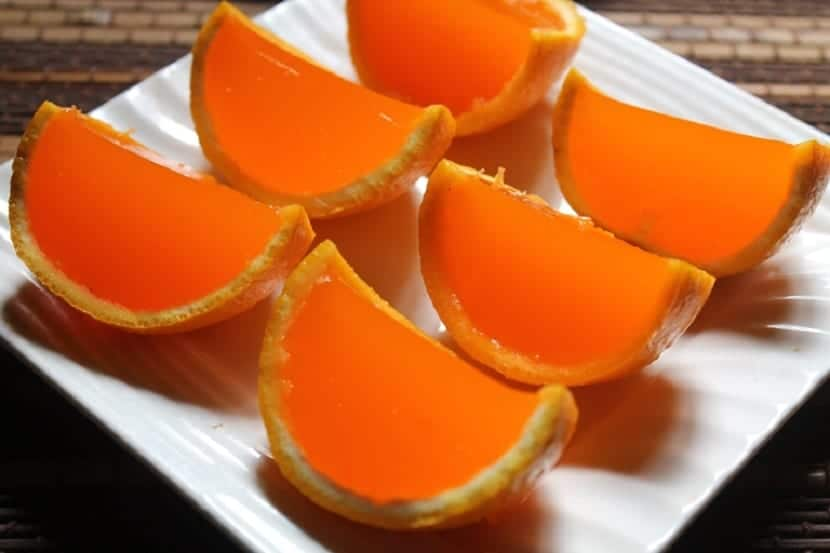 Naranjas en gelatina