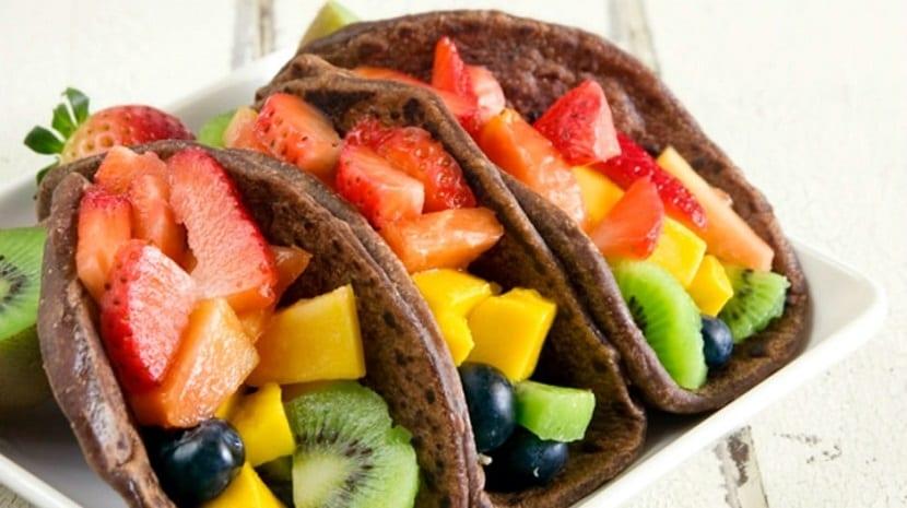Tacos de frutas