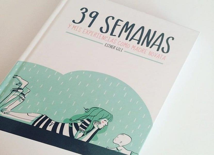 """Portada del libro """"39 semanas y mis experiencias como mamá novata"""""""