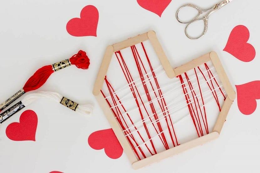 Corazón hilorama de San Valentín