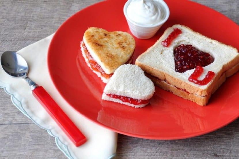 Desayuno fácil de San Valentín