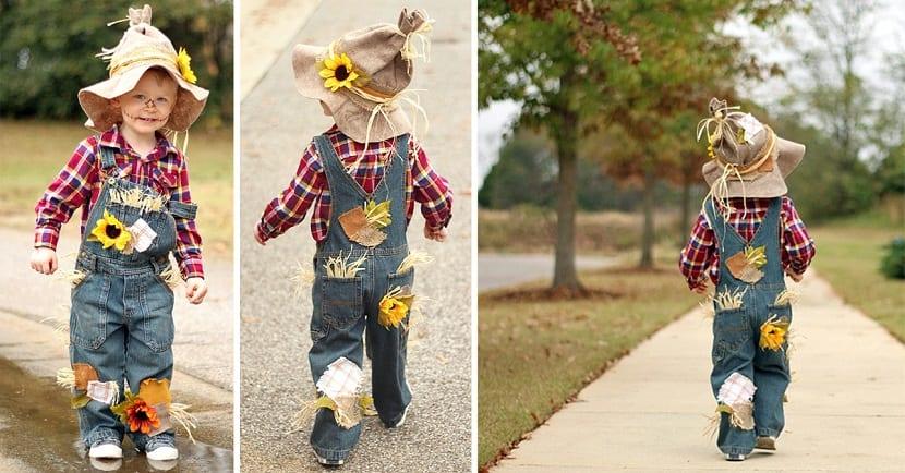 Disfraz infantil de espantapájaros