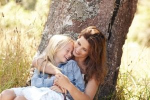 felicidad entre madre e hija