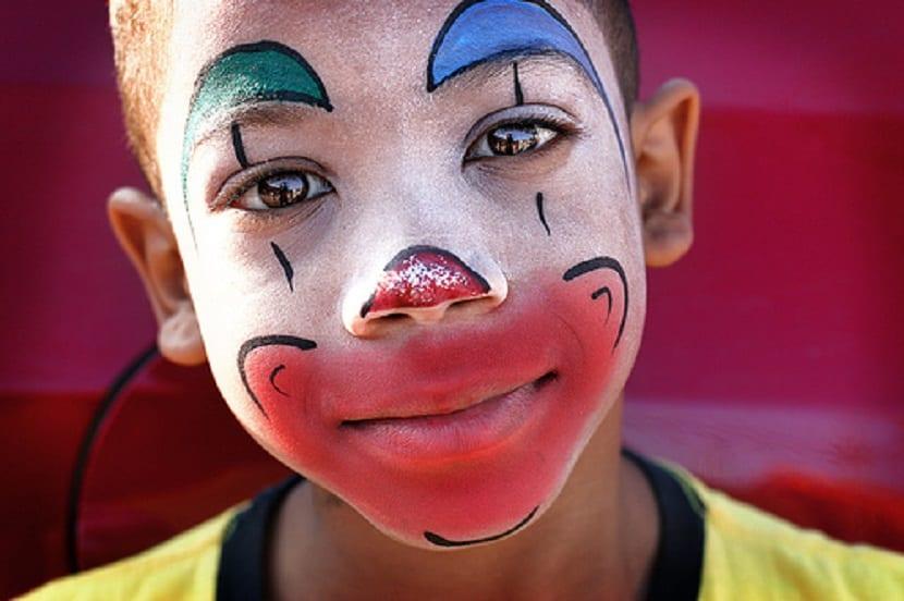 Maquillaje de payaso infantil