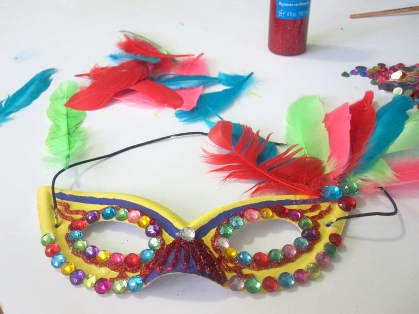 Máscara de Carnaval infantil