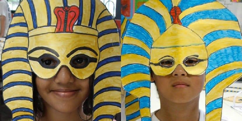 Máscara de egipcio para Carnaval