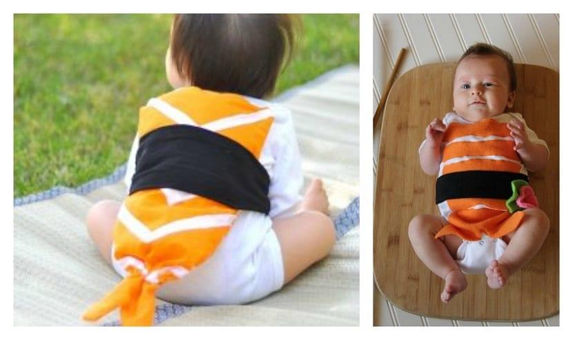 Disfraz infantil de sushi