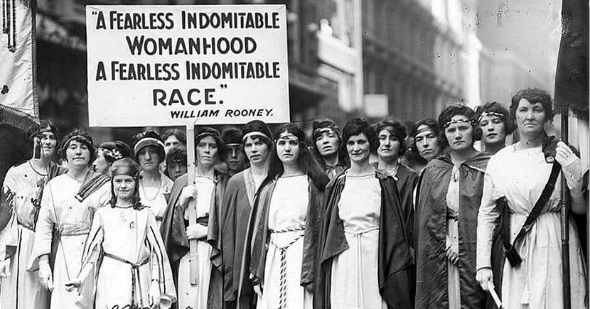 Manifestación por el Día de la Mujer