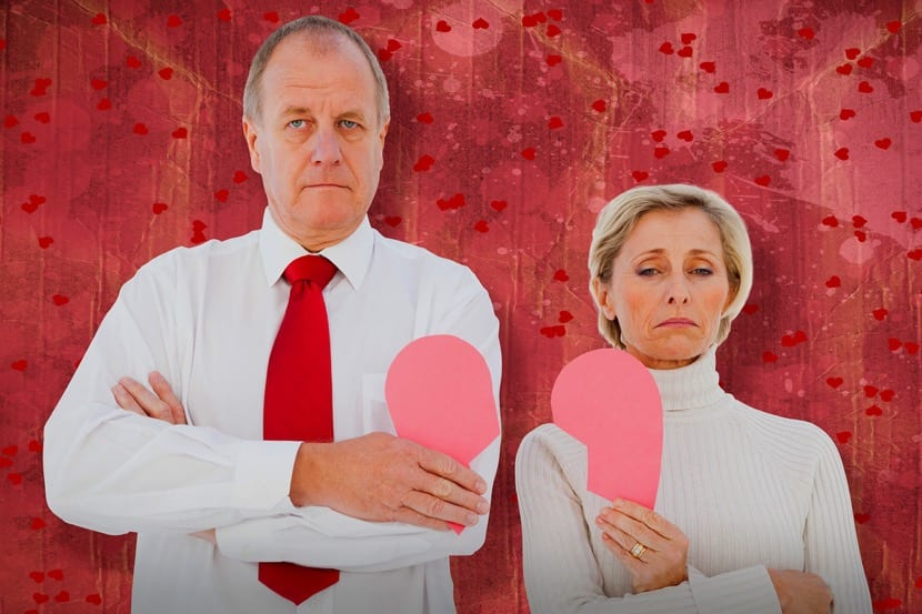 parejas mayores que se divorcian