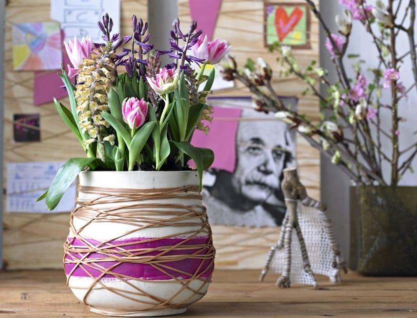 Manualidades con flores para primavera