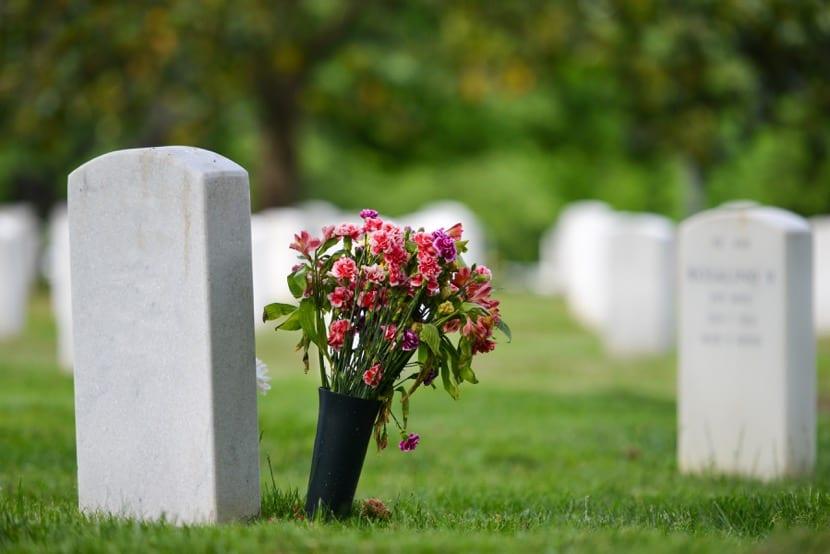 flores en un funeral