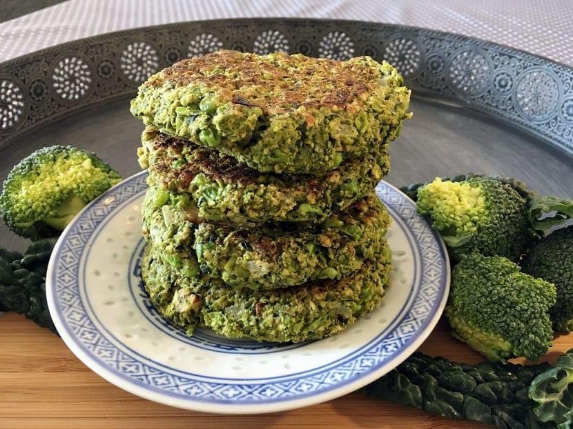 Receta de hamburguesa de brócoli y queso