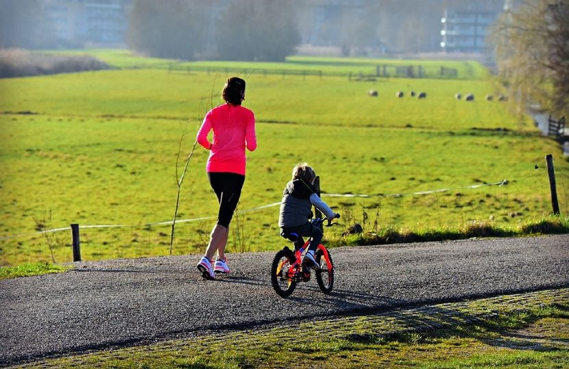 montar bici niños