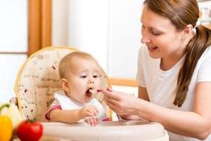 Papillas con leche materna para bebés