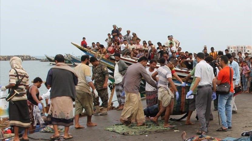 personas que huyen de yemen