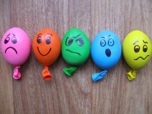 emociones en globos