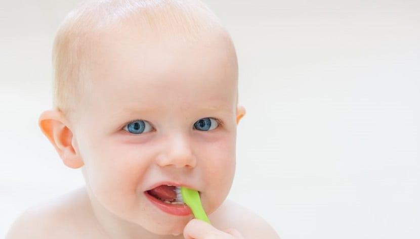 Cómo lavar los dientes del bebé