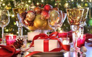 Decorar la mesa de navidad