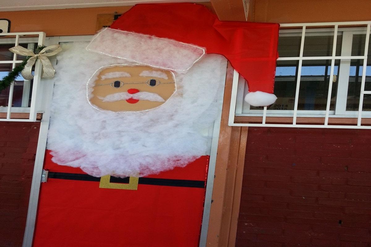 Puerta Papá Noel para navidad