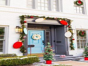 Decoración puerta de Navidad