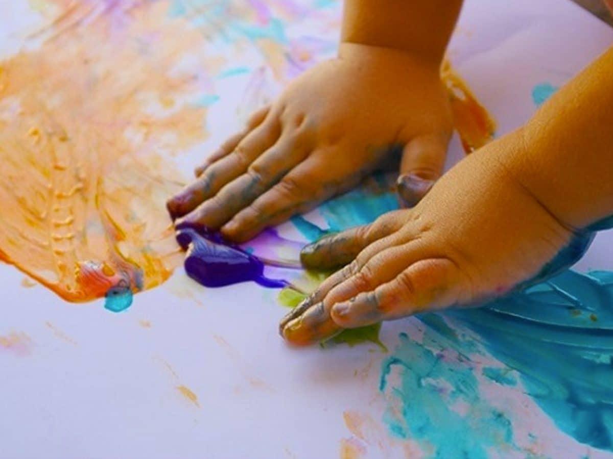 Ideas para pintar con niños en casa