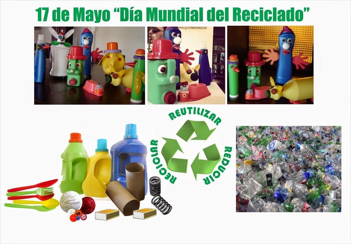 papel, vidrio, plástico, reciclaje