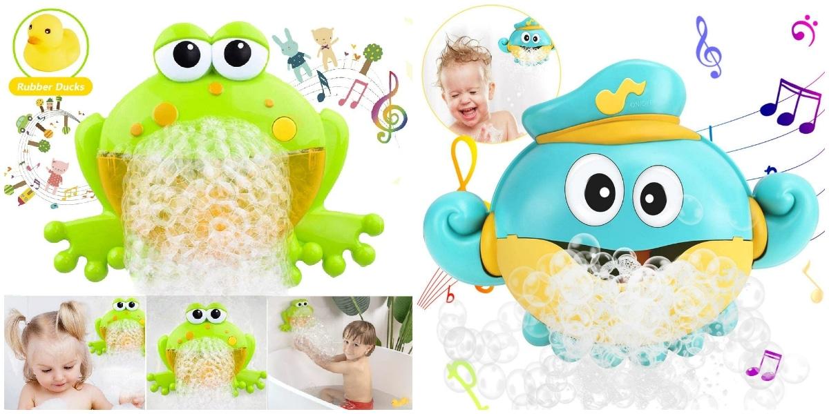 Juguetes con burbujas y pompas de jabón