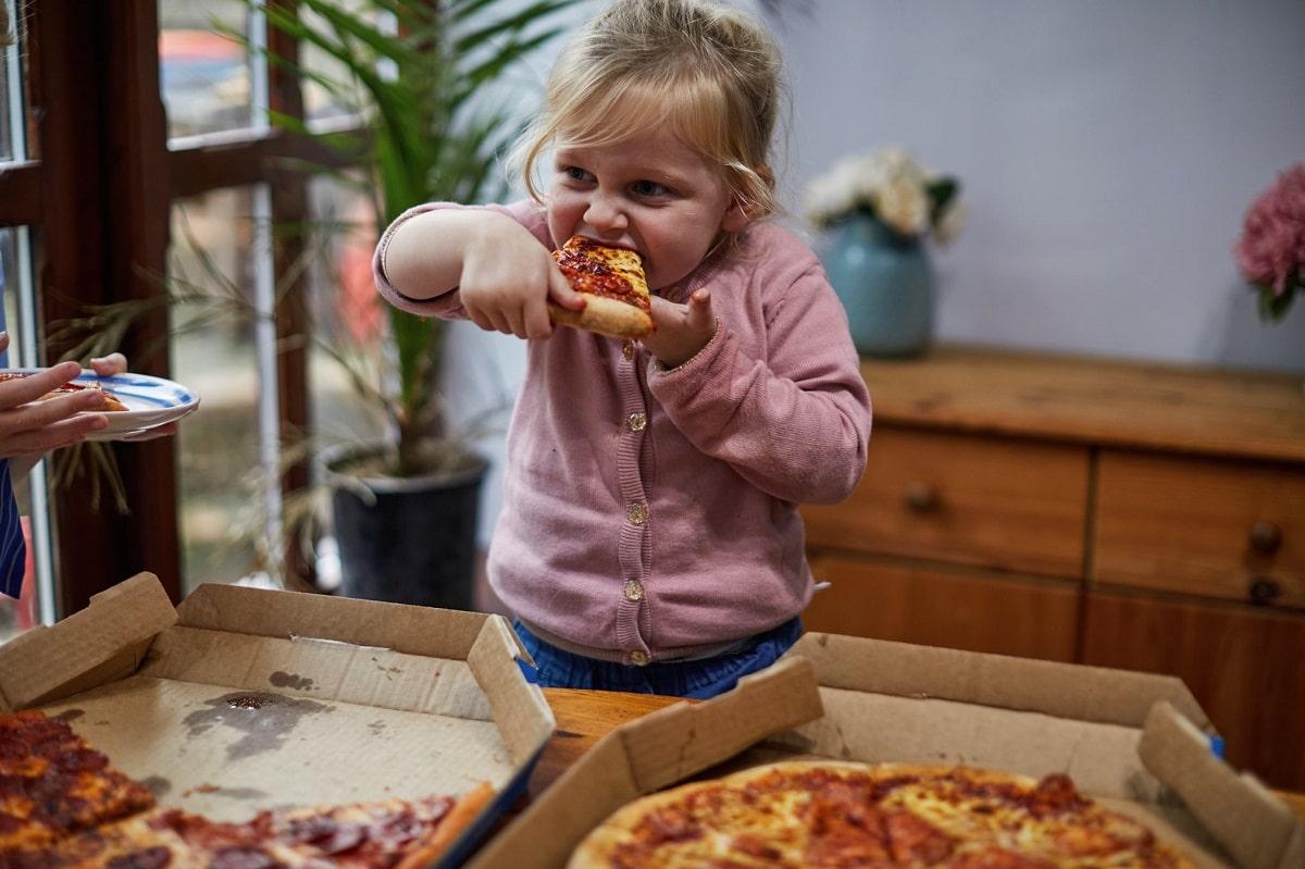Consumo de comida rápida en niños