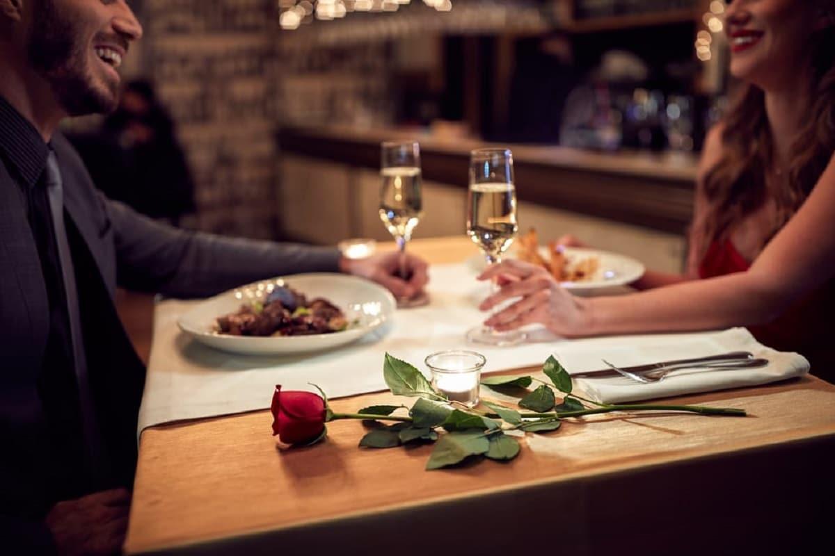 Cena romántica en pareja