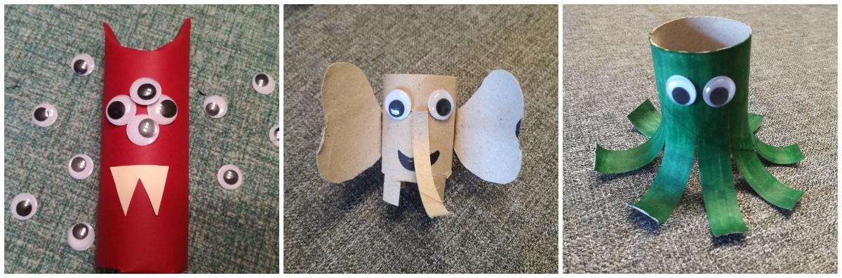 Manualidades con cartón para hacer con niños pequeños