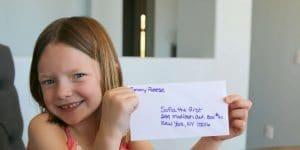 Enseñar a los niños a escribir una carta