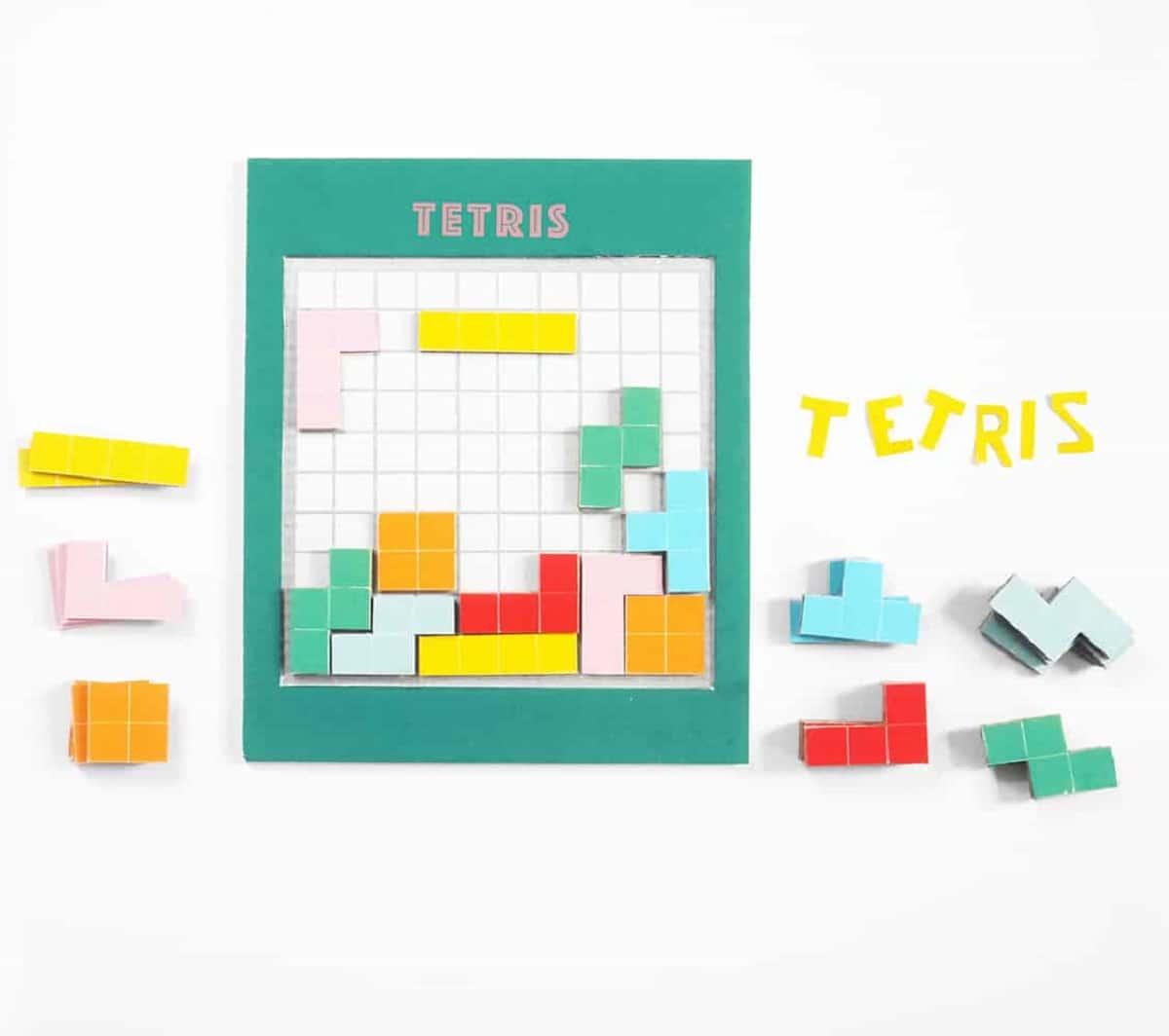 Juego de tetris de cartón