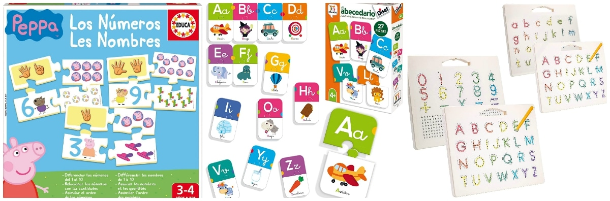 Juguetes para iniciarse en las letras y números