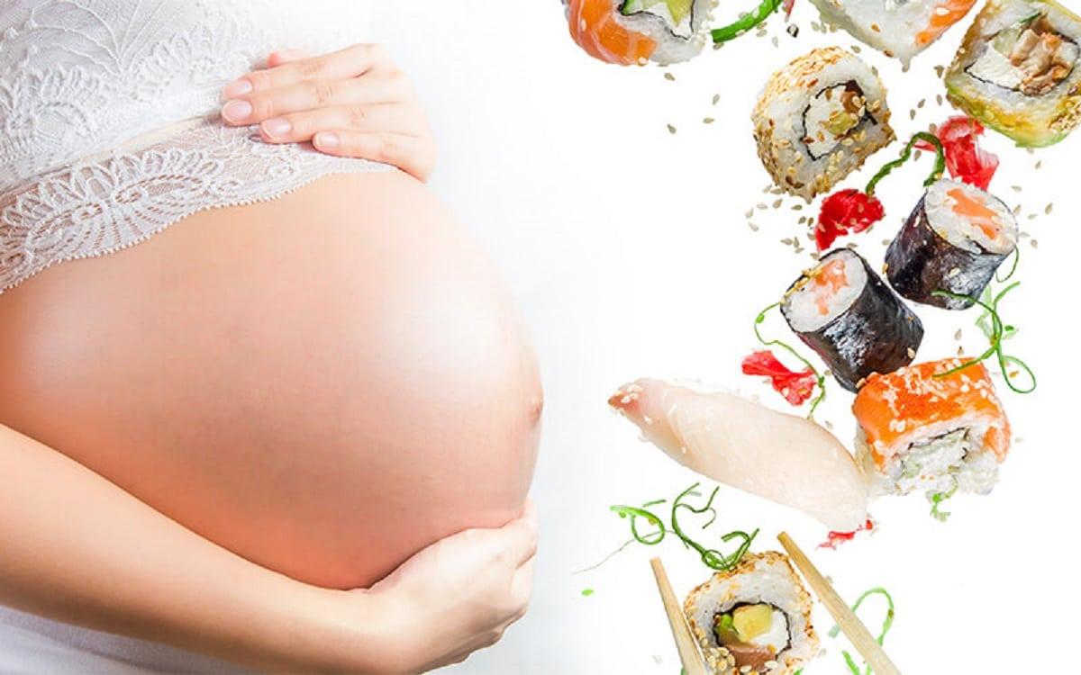 Comer sushi en el embarazo