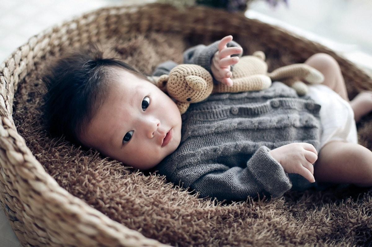 bebé en canasta