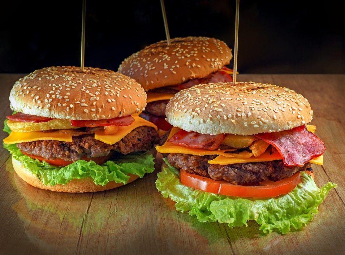 malusog na burger para sa hapunan