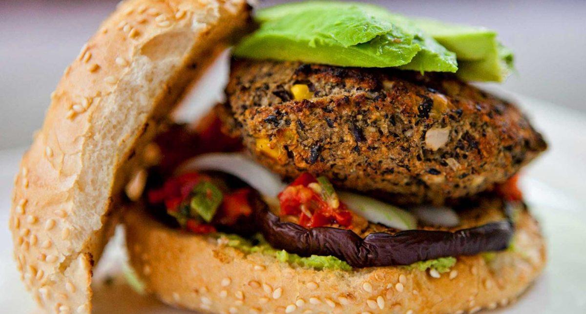 hamburguesas vegetarianas en familia