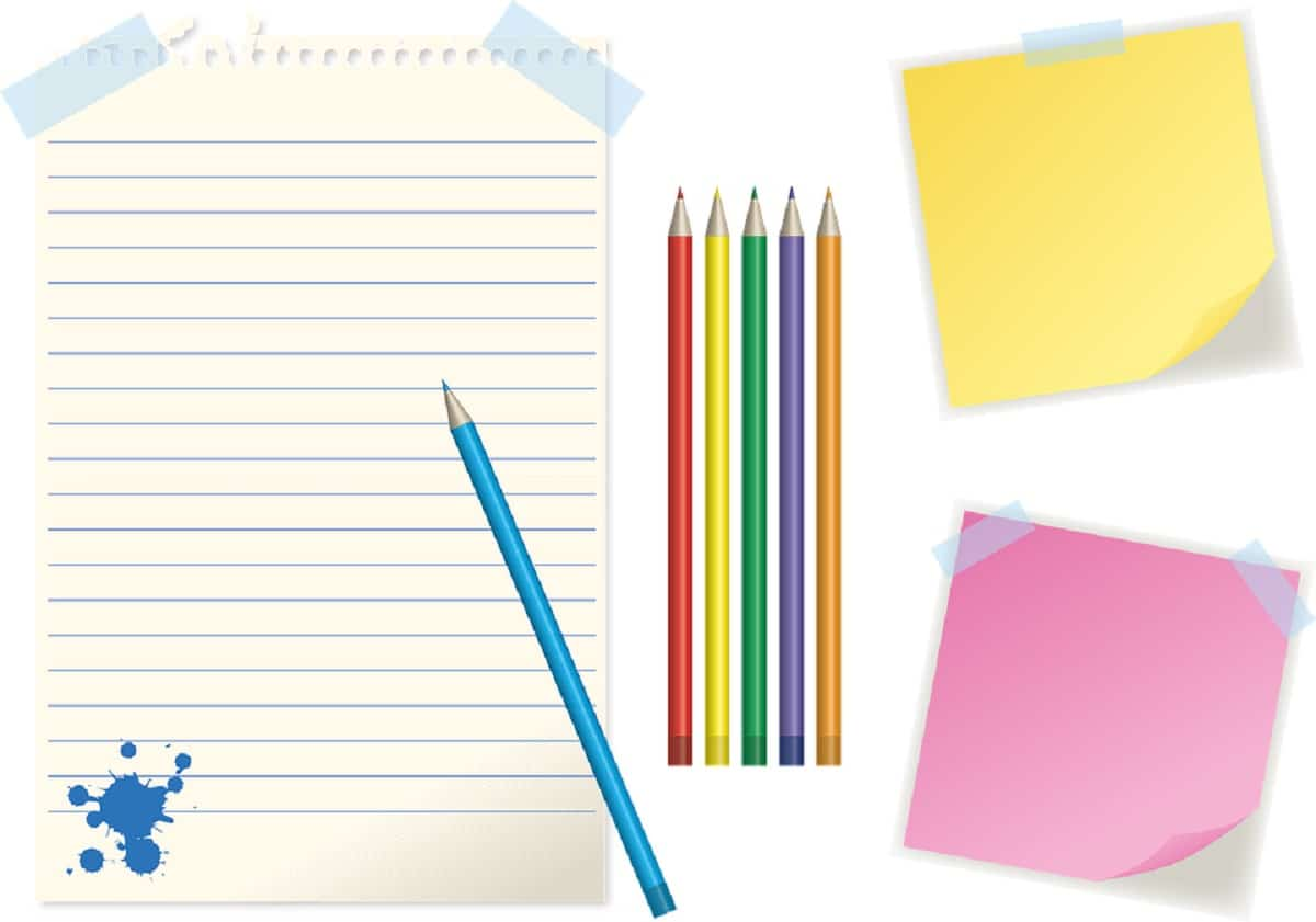 Material de papelería para mejorar la escritura