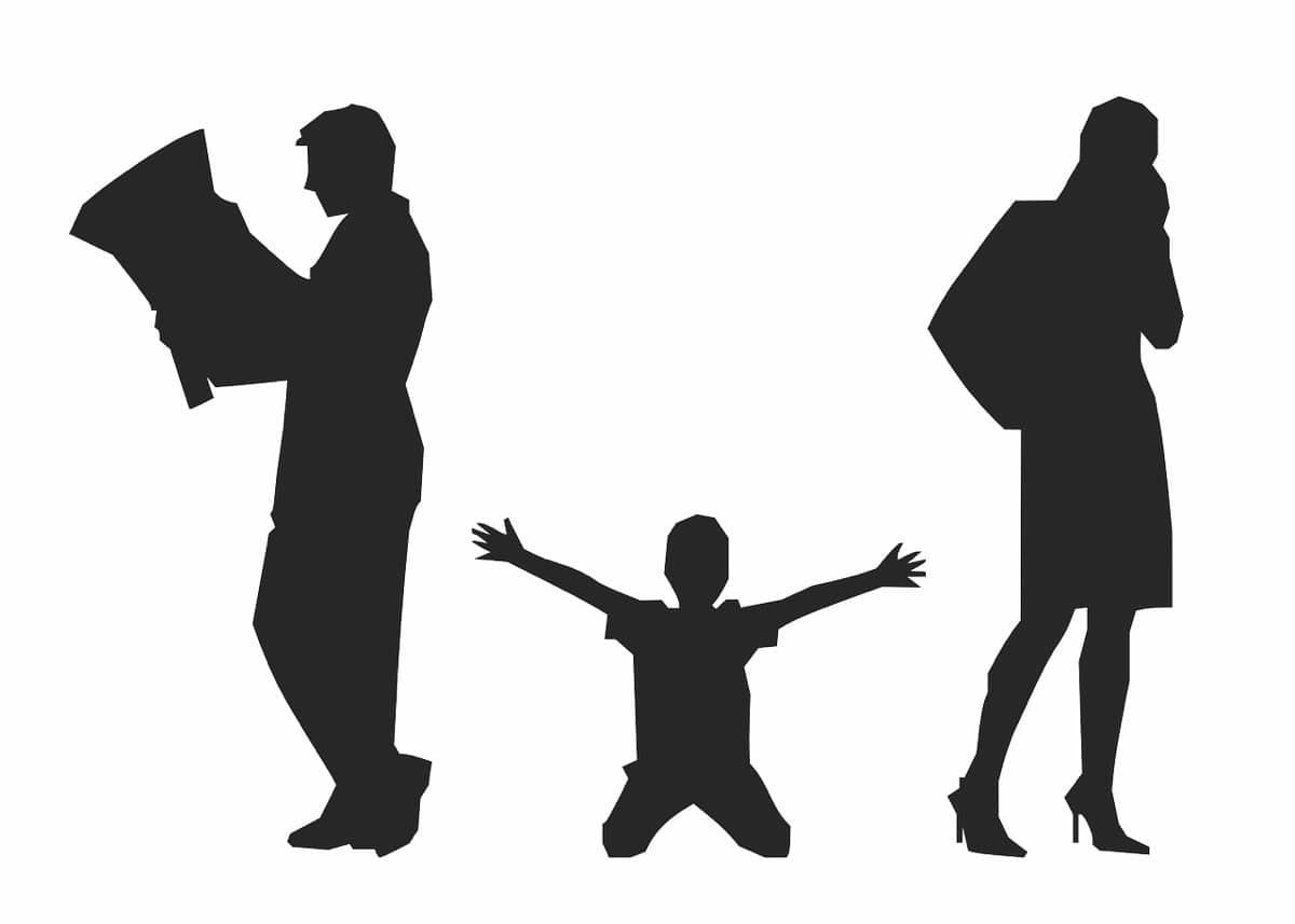 niño dividido por divorcio